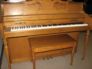 Rudolph Wurlitzer 42in Console Upright Piano