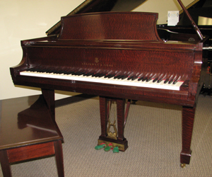 Steinway Model M 5 7 Baby grand piano  Made in 2001 in beautiful Pommele Mahogany finish.